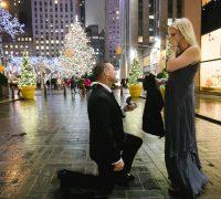 nyc proposal photographer at rockerfeller