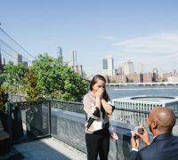 proposal photographer nyc by brooklyn bridge