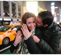 proposal photographer nyc at times square